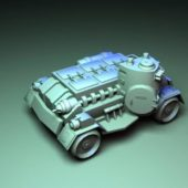 Car Sci-fi Fighting Vehicle