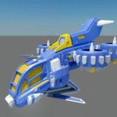 Sci-fi Weapon Gunship Animation