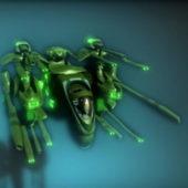 Sci-fi Weapon Heavy Gunship