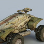 Sci-fi Military Transport Vehicle