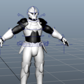 Sci-fi Robotic Soldier Character Rigged
