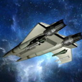 Sci-fi Aircraft Space Fighter Ship
