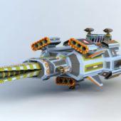 Sci-fi Spacecraft Frigate