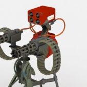 Sci-fi Military Heavy Machine Gun