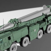Scud B Weapon Missile Launcher Truck