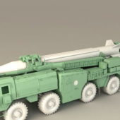 Russian Scud Missile Launcher Weapon