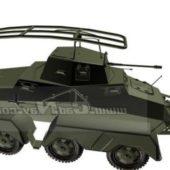 Military Sd.kfz 232 Heavy Armored Vehicle