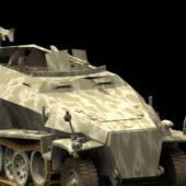 Military Sdkfz. 251 Light Armoured Halftrack