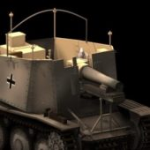 Military Sdkfz Grille Self Propelled Artillery