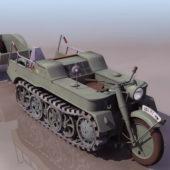Military Sdkfz Half-track Gun Tractor