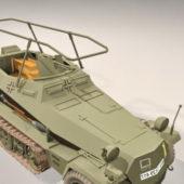 German Sdkfz 250 Halftrack Vehicle