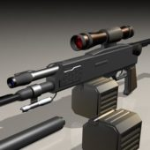 Weapon Semi Automatic Sniper Rifle