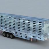 Heavy Duty Semi Livestock Trailer Vehicle