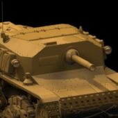 Military Semovente Self-propelled Gun