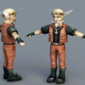 Senior Technician Cartoon Character