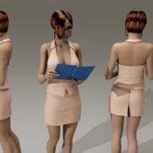 Beauty Secretary Character