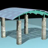 Gazebo Canopy Stone Column
