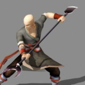 Shaolin Warrior Monk Game Character