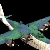 Military Sunderland Flying Boat Bomber