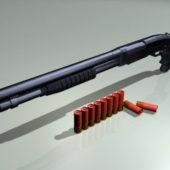 Weapon Shotgun With Shells