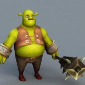 Cartoon Shrek Character