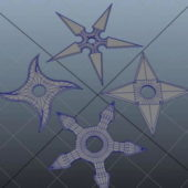 Japan Shuriken Concealed Throwing Stars