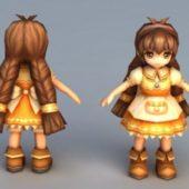 Shy Girl Anime Character