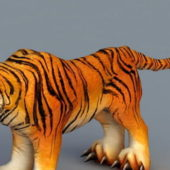 Cartoon Siberian Tiger