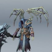 Game Character Skeleton Death With Scythe
