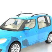 Blue Skoda Lav Car