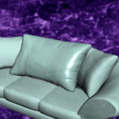 Home Furniture Sky Blue Sofa