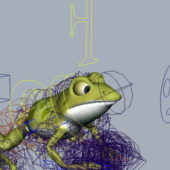 Small Frog Rigged