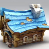 Cartoon Style Small Medieval House