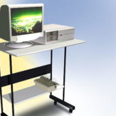 Small Computer Table Furniture With Computer