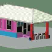 Small Gas Station Building