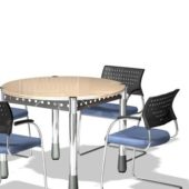 Furniture Round Meeting Table Chairs