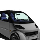 White Smart Fortwo City Car
