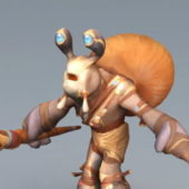 Character Snail Wizard