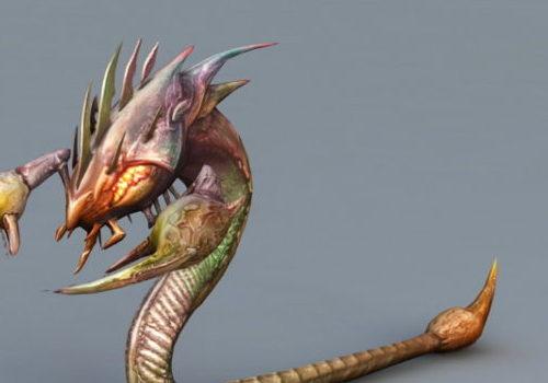 Snake Scorpion Monster Character
