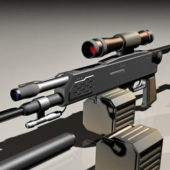 Weapon Sniper Rifle With Clip