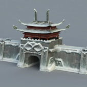 Snow City Wall Gate Building