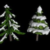 Snowy Pine Tree Plant