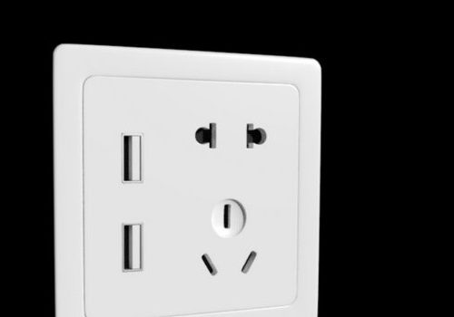 Electronic Socket With Usb Port
