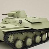 Military Russian Light Tank T40