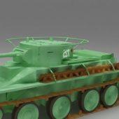 Vintage Soviet Bt-5 Tank