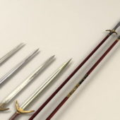 Chinese Spears Swords Weapon