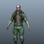Army Forces Uniform Soldier Character