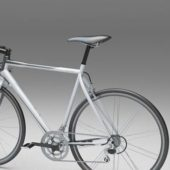 White Sport Touring Bicycle