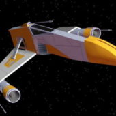Star Wars Aircraft E-wing Fighter