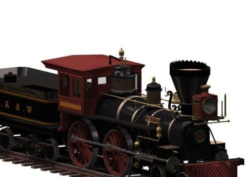 Vehicle Steam Railway Locomotive